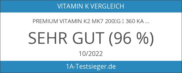 Premium Vitamin K2 MK7 200µg ▪ 360 Kapseln = 12