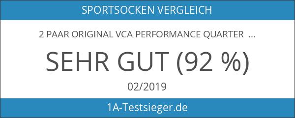 2 Paar Original VCA Performance Quarter - Laufsocken