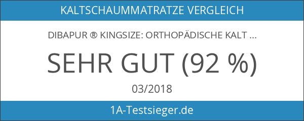 Dibapur ® Kingsize: Orthopädische Kaltschaummatratze Kernhöhe ca. 22
