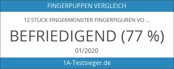 12 Stück Fingermonster Fingerfiguren Vollgummi Fingerpuppen Handspiel Fingerspiel Monster