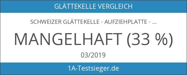 Schweizer Glättekelle - Aufziehplatte - Aufziehglätte - Traufel - Edelstahl