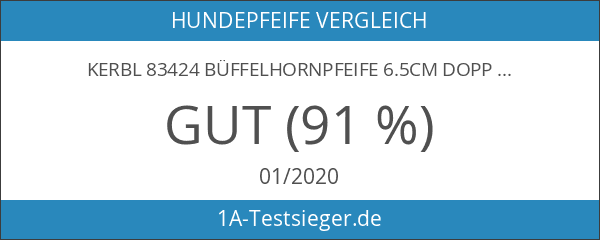 Kerbl 83424 Büffelhornpfeife 6.5cm doppeltönig Pfiff und Trille
