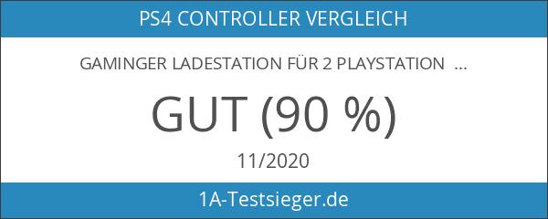 GAMINGER Ladestation für 2 PlayStation 4 Dualshock Controller