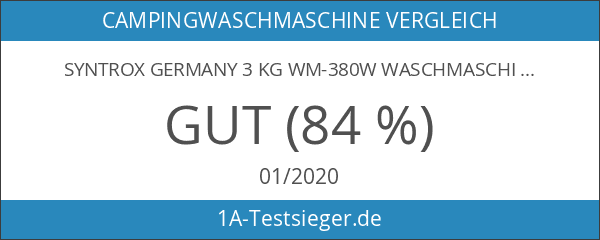 Syntrox Germany 3 Kg WM-380W Waschmaschine mit Schleuder Campingwaschmaschine Mini