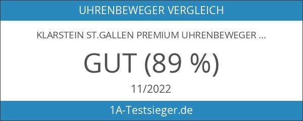 Klarstein St.Gallen Premium Uhrenbeweger vertikale Uhrenbox schwarz-blau