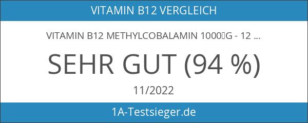 Vitamin B12 Methylcobalamin 1000µg - 120 vegane Tabletten - Hochdosierter