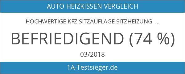 hochwertige KFZ Sitzauflage Sitzheizung Heizkissen 2 Heizstufen heizbare Sitzauflage