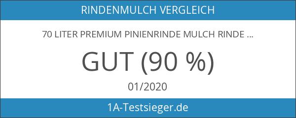 70 Liter Premium Pinienrinde Mulch Rindenmulch Dekorrinde Bodengrund 7-15mm