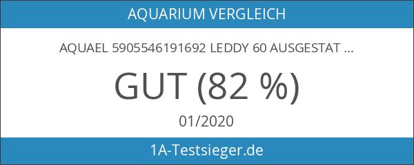 Aquael 5905546191692 Leddy 60Ausgestattetes Aquarium