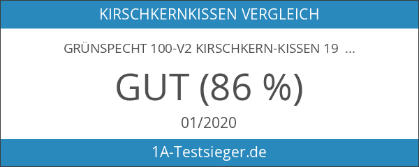 Grünspecht 100-V2 Kirschkern-Kissen 19 x 19 cm