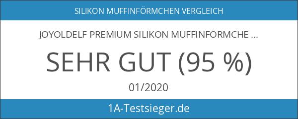 Joyoldelf Premium Silikon Muffinförmchen-32er-Pack wiederverwendbarer Backförmchen