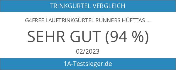 G4Free Lauftrinkgürtel Runners Hüfttasche für Outdoor Sports Wandern Radfahren Wandern