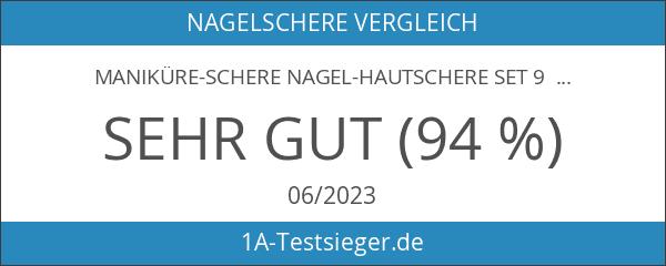 Maniküre-Schere Nagel-Hautschere Set 9 cm Gebogen 3-er Set Edelstahl