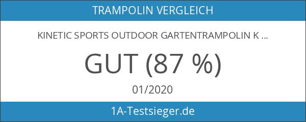 Kinetic Sports Outdoor Gartentrampolin Komplettset Ø 305 cm Sicherheitsnetz Randabdeckung