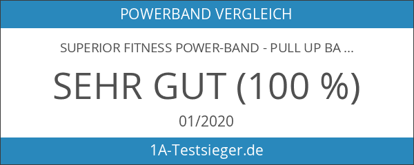 SUPERIOR Fitness Power-Band - Pull Up Band mit Übungsanleitung für