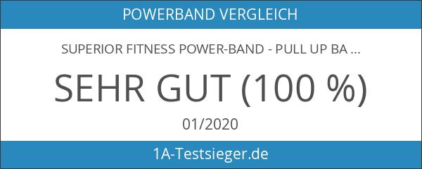 SUPERIOR Fitness Power-Band - Pull Up Band mit Übungsanleitung für