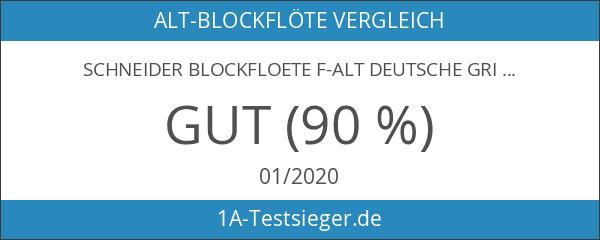 Schneider Blockfloete F-Alt Deutsche Griffweise