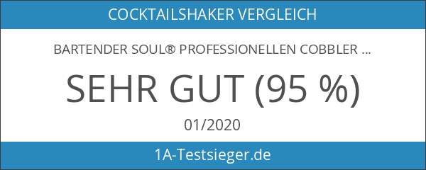 Bartender Soul® Professionellen Cobbler Cocktailshaker Set - 750ml - Veröffentlichungsedition
