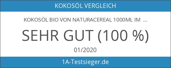 Kokosöl Bio von NATURACEREAL 1000ml im Glas: unraffiniert