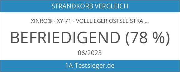 XINRO® - XY-71 - Volllieger Ostsee Strandkorb anthrazit inkl. Strandkorbhülle
