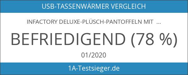 infactory Deluxe-Plüsch-Pantoffeln mit USB-Wärmesohle bis Gr. 39