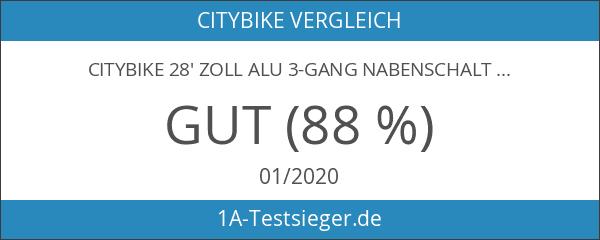 Citybike 28' Zoll Alu 3-Gang Nabenschaltung STVZO Nabendynamo Rücktritt RH