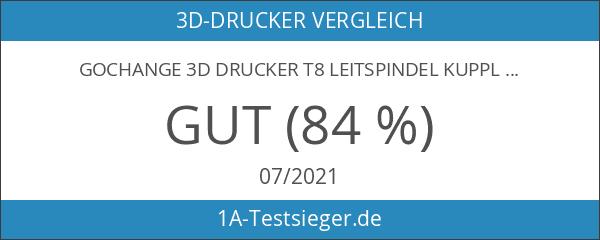GOCHANGE 3D Drucker T8 Leitspindel Kupplung Welle Halterung Edelstahl 500mm