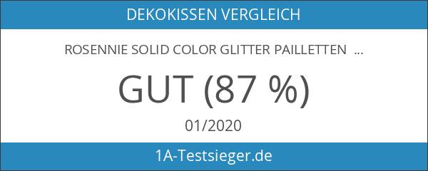 Rosennie Solid Color Glitter Pailletten Dekokissen Fall Cafe Home Decor