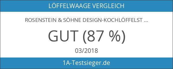 Rosenstein & Söhne Design-Kochlöffelständer aus Porzellan & Edelstahl