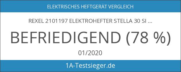 Rexel 2101197 Elektrohefter Stella 30 silber
