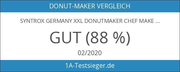 Syntrox Germany XXL Donutmaker Chef Maker mit herausnehmbaren und spülmaschinen