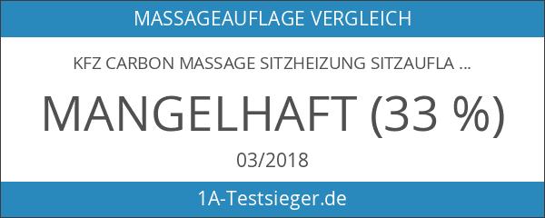 KFZ Carbon MASSAGE SITZHEIZUNG Sitzauflage 3D Massage Funktion UNIVERSAL