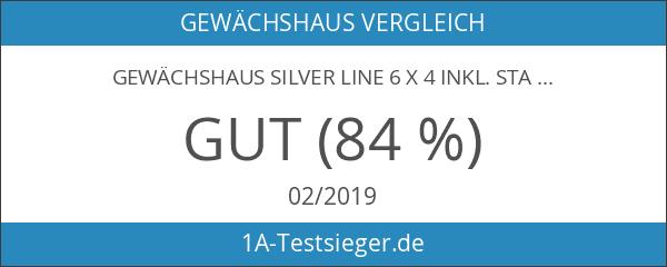 Gewächshaus Silver Line 6 x 4 inkl. Stahlfundament