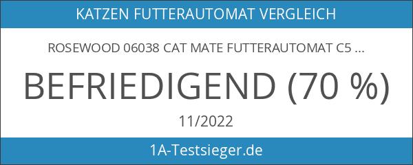 Rosewood 06038 Cat Mate Futterautomat C50 für fünf Mahlzeiten