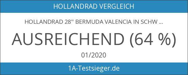 Hollandrad 28'' Bermuda Valencia in schwarz Stadtrad Damen Holland Fahrrad