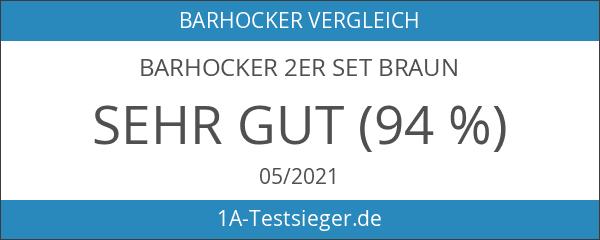 Barhocker 2er Set Braun