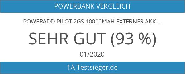 Poweradd Pilot 2GS 10000mAh Externer Akku Power Bank besitzt mit