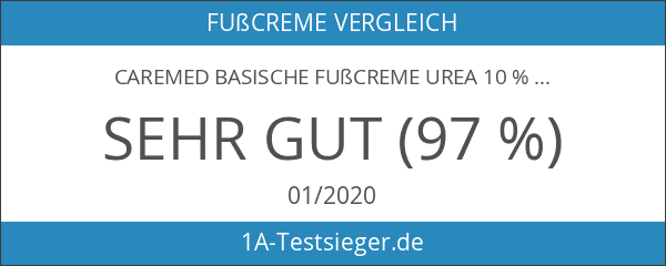 CareMed basische Fußcreme Urea 10 %