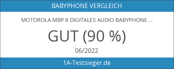 Motorola MBP 8 Digitales Audio Babyphone mit DECT-Technologie und bis