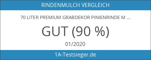 70 Liter Premium Grabdekor Pinienrinde Mulch Rindenmulch Dekorrinde Bodengrund 2-8