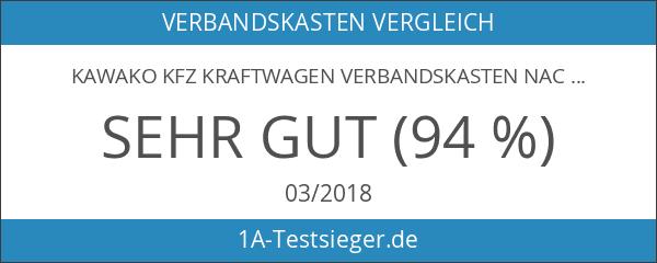 kawako KFZ Kraftwagen Verbandskasten nach neuster DIN 13164-2014 in rot