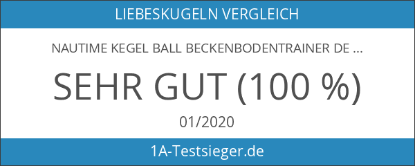 Nautime Kegel Ball Beckenbodentrainer Deluxe Metall Gold Balls Übung Bälle