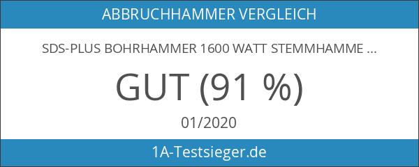 SDS-Plus Bohrhammer 1600 Watt Stemmhammer Meißelhammer im Koffer