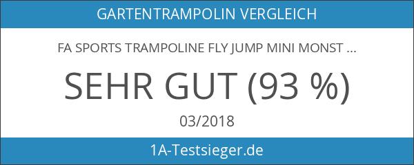 FA Sports Trampoline Fly Jump Mini Monster mit Sicherheitsnetz 183