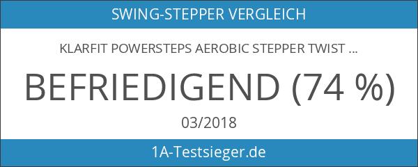 Klarfit Powersteps Aerobic Stepper Twist-Stepper mit Bändern schwarz blau rosa