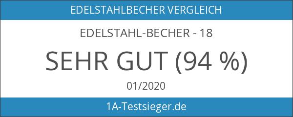 Edelstahl-Becher - 18