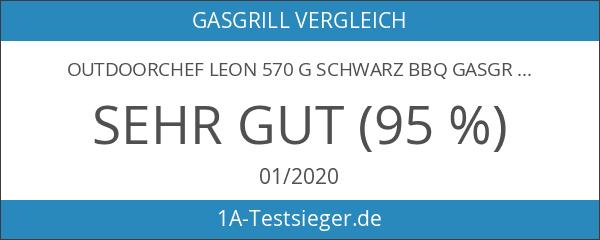 Outdoorchef LEON 570 G schwarz BBQ Gasgrill Kugelgrill