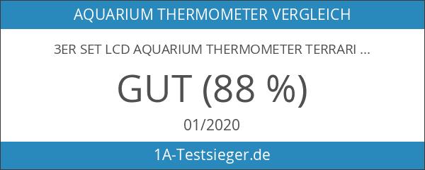 3er SET LCD AQUARIUM THERMOMETER TERRARIUM KLEBETHERMOMETER zum AUFKLEBEN NEU