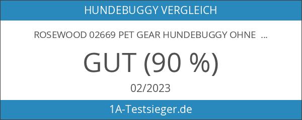 Rosewood 02669 Pet Gear Hundebuggy ohne Reißverschlüsse