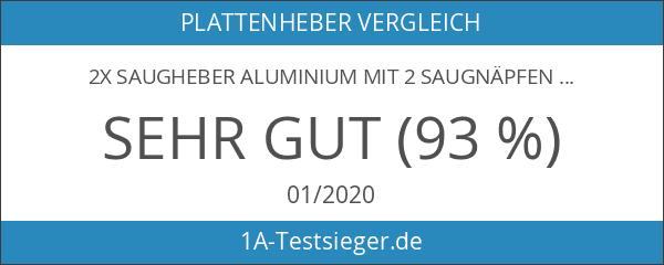 2x Saugheber Aluminium mit 2 Saugnäpfen